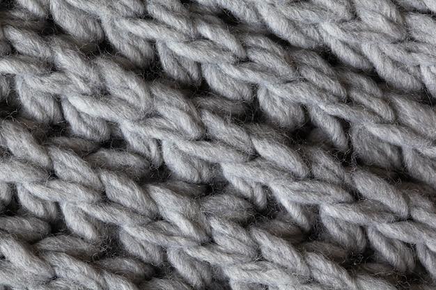 Superficie strutturata in lana lavorata a maglia