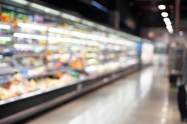 Supermercato sfocato