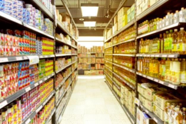 Supermercato vuoto sfocato