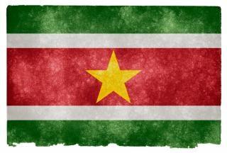 Suriname grunge bandiera nazione