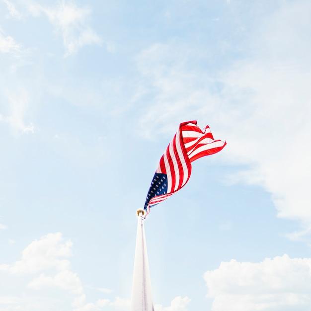 Sventolando la bandiera degli stati uniti