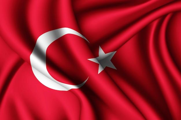 Sventolando la bandiera della turchia