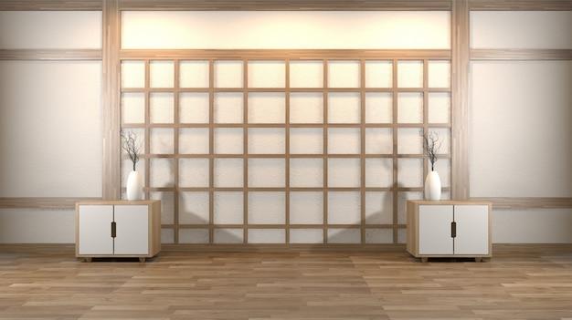 Svuoti la stanza di zen e le decorazioni japanses