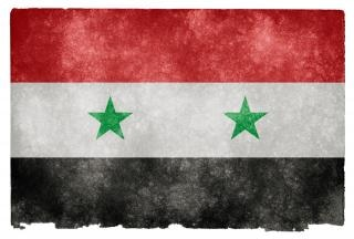 Syria grunge flag sporcizia