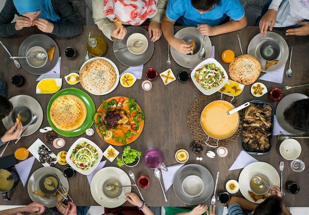 Tabella degli alimenti, vista dall'alto