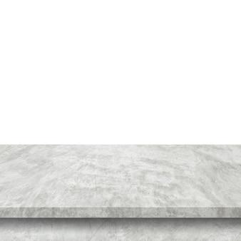 Tabella vuota del cemento sull'isolato su
