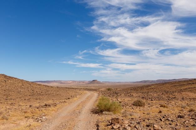 Table mountain nel deserto del sahara, in marocco