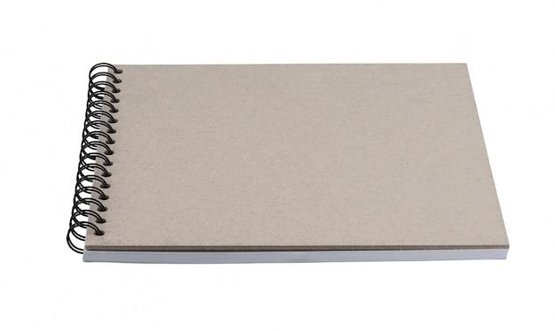 Taccuino o sketchbook della pagina in bianco isolato