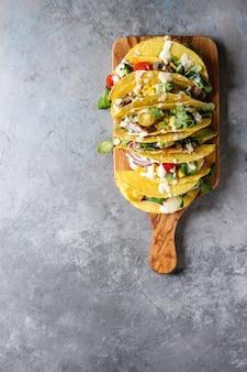 Tacos di mais vegetariano