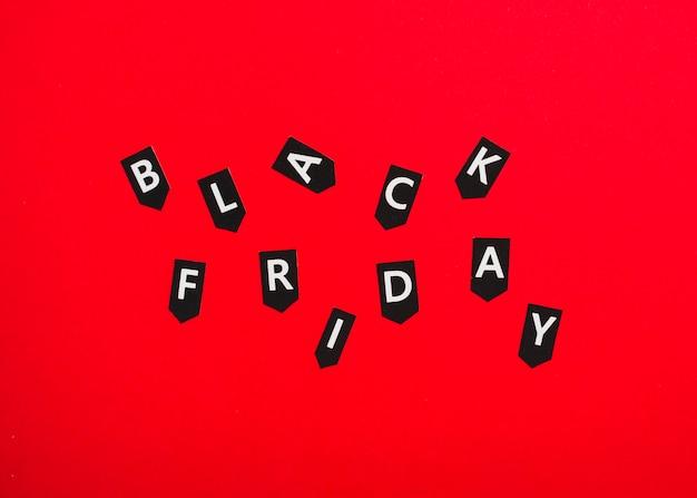 Tag con iscrizione del venerdì nero