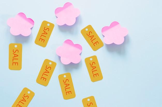 Tag di vendita venerdì nero con note adesive