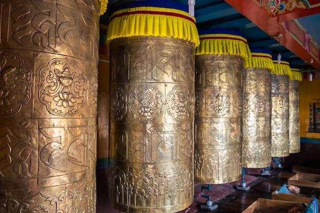 Tamburi di preghiera in metallo