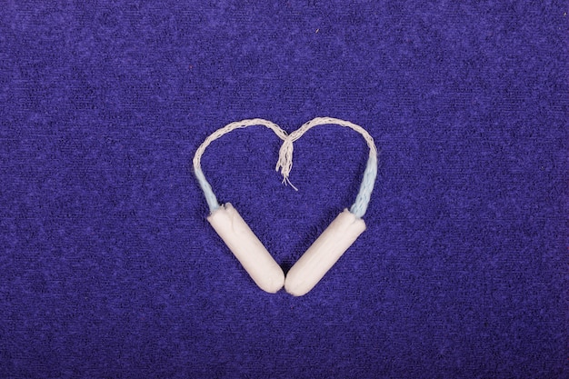 Tamponi che fanno un cuore