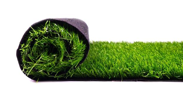 Tappeto erboso artificiale, prato verde, coperture in rotoli per campi sportivi, prato isolato