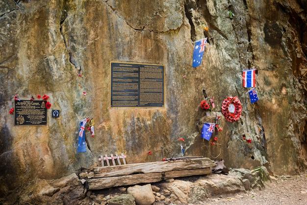 Targa in ricordo di sir edward weary'dunlop alla hellfire pass memorial