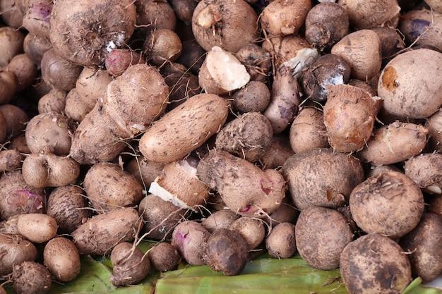 Taro biologico al cibo di strada