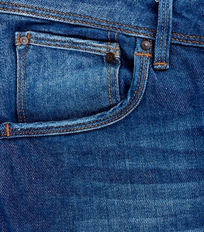 Tasca frontale di jeans classici blu