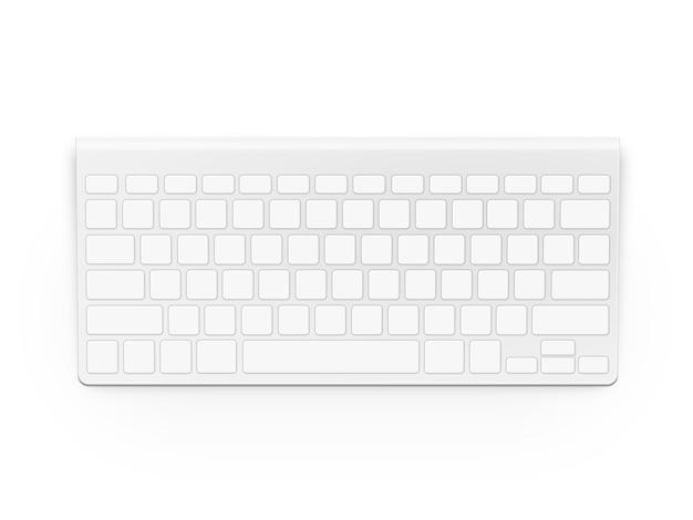 Tastiera bianca in bianco isolata
