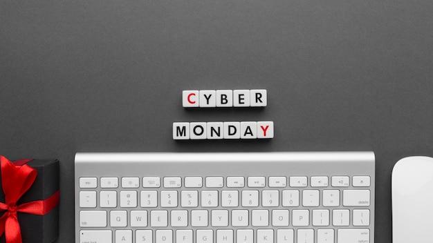 Tastiera e mouse di cyber lunedì