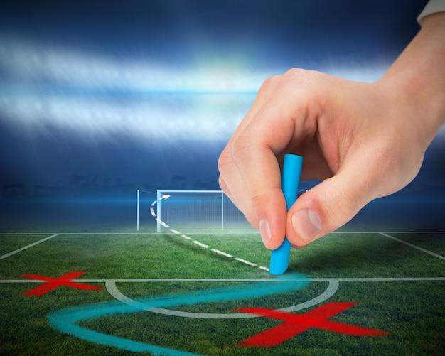 Tattiche di disegno a mano sul campo da calcio