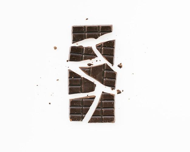 Tavoletta di cioccolato minimalista piatta