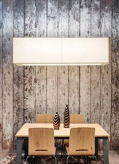 Tavolo da pranzo e sedie moderni in legno