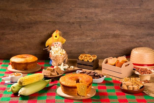 Tavolo della festa brasiliana junina