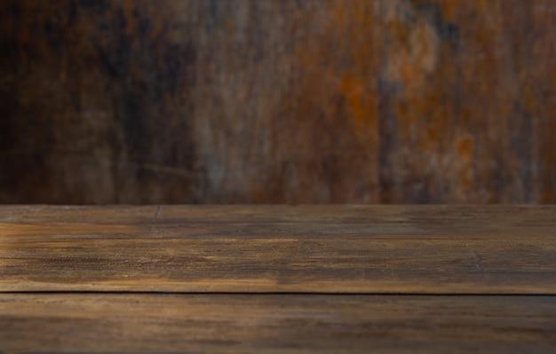 Tavolo di fondo rustico per montare il tuo oggetto
