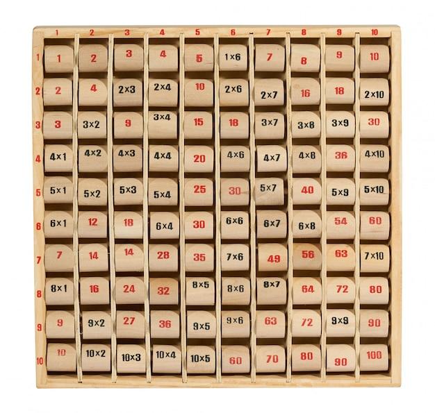 Tavolo di moltiplicazione in legno