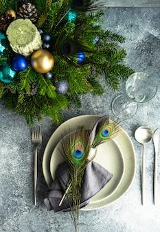 Tavolo festivo per la cena di natale