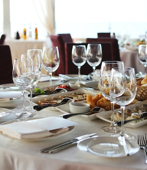Tavolo per banchetti nel ristorante