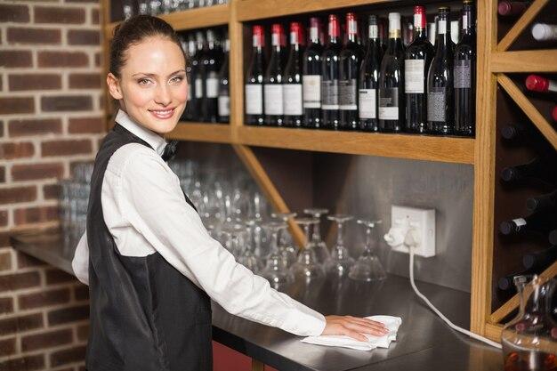 Tavolo per la pulizia della barista