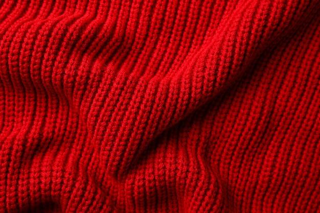 Tavolo trama maglione rosso