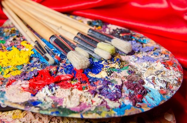 Tavolozza dell'artista nel concetto di arte