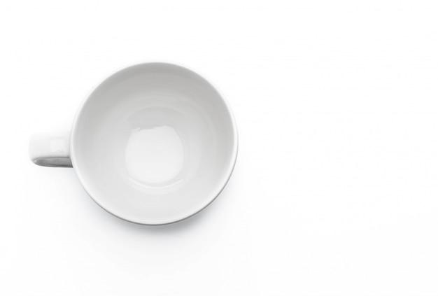 Tazza di caffè bianco vuota