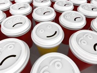 Tazza di caffè felice