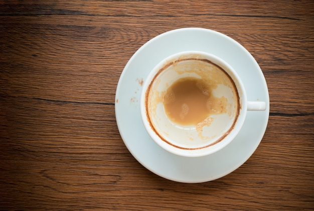 Tazza di caffè vuota