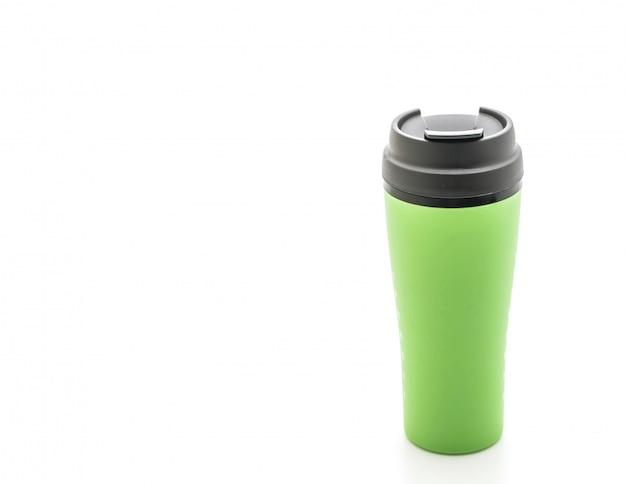 Tazza di plastica e bicchiere