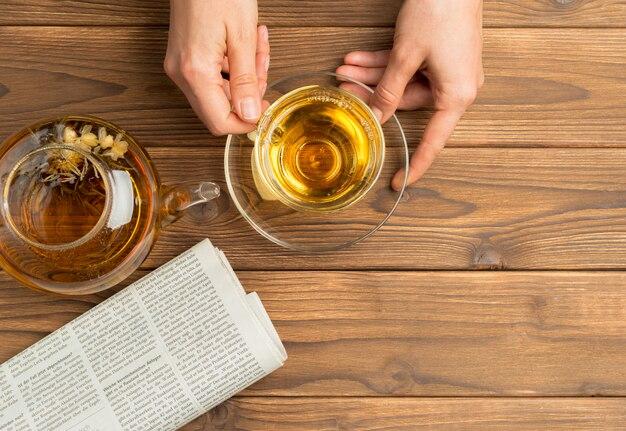 Tazza di tè del mattino