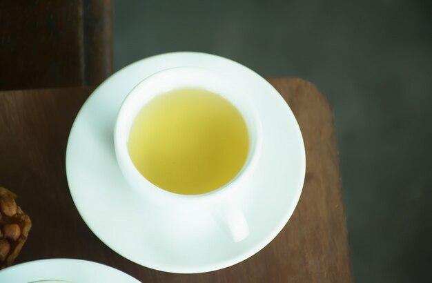 Tazza di tè. tazza di tè sul tavolo di caffè.