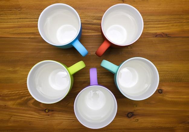 Tazze da caffè colorate