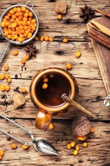 Tè con olivello spinoso