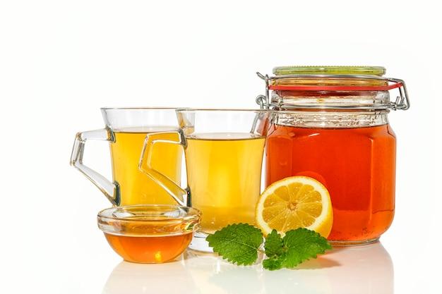 Tè verde al limone e miele