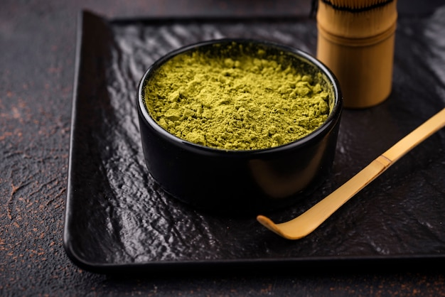 Tè verde giapponese matcha in polvere