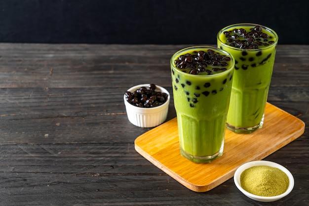 Tè verde latte con bolla