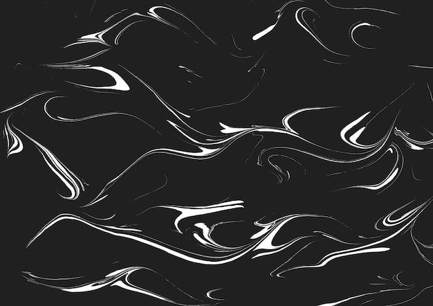 Tecnica ebru, sfondo trama marmo bianco e nero