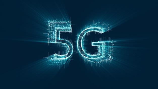 Tecnologia 5g, comunicazione con tecnologia avanzata, 5a generazione di comunicazione tecnologica.