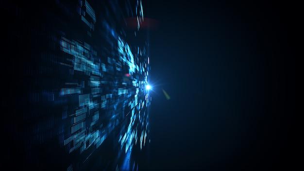 Tecnologia astratta big data.