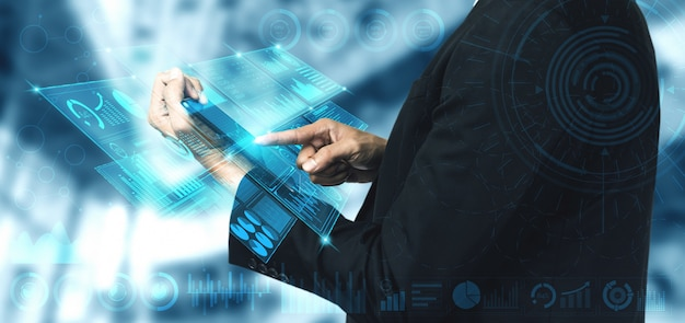 Tecnologia di big data per il concetto di finanza di affari.