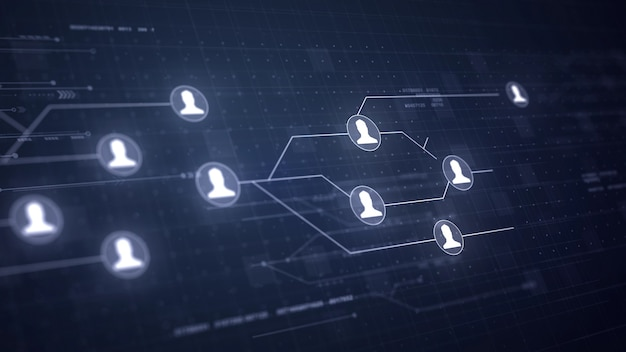 Tecnologia di connessione dei collegamenti a circuito della rete di utenti